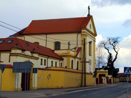 Church, monastery and shrine of the Capuchins in Nowe Miasto nad Pilica place in Poland, the death of Blessed Father Honorat Kozminski founder of many religious congregations Stock Photo