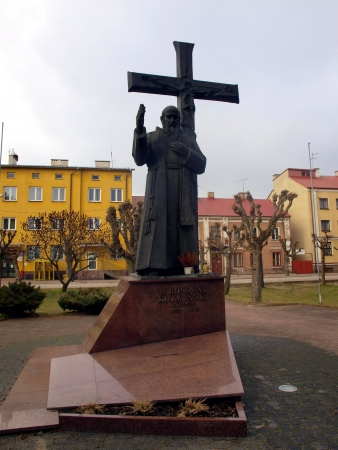 statue of the Blessed capuchin friar, founder of many religious congregations, Father Honorat Kozminski in Nowe Miasto nad Pilica in Poland or in the place of his death