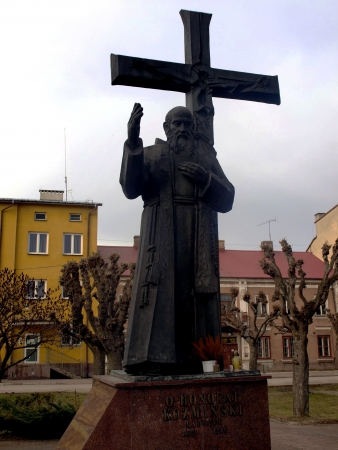 confessor: statue of the Blessed capuchin friar, founder of many religious congregations, Father Honorat Kozminski in Nowe Miasto nad Pilica in Poland or in the place of his death