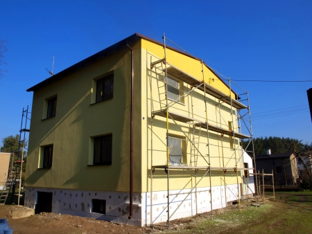 repair and construction, thermal insulation and renovation of single-family building facade