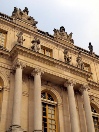 facade of the royal palace at Versailles near Paris in France in winter
