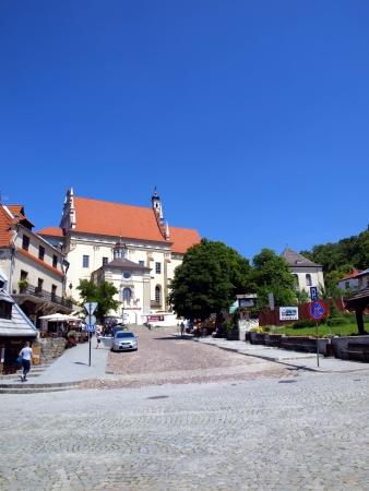 kazimierz: Church  John the Baptist and St  Bartholomew - Parish Church located on the market square in Kazimierz Dolny, Poland