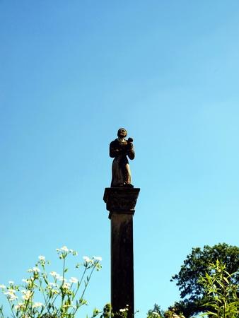 kazimierz: The old statue of St  Anthony on the column, Kazimierz Dolny, Poland Stock Photo