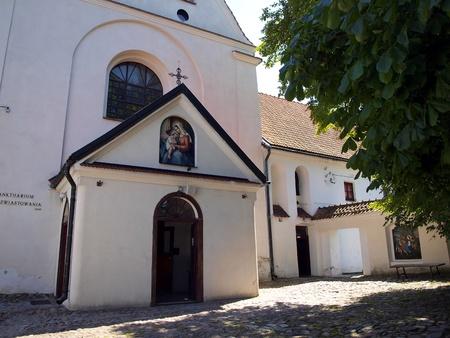 kazimierz: Shrine of Our Lady of Kazimierz, the Church of the Annunciation Monastery and Reformed, Kazimierz Dolny, Poland Stock Photo