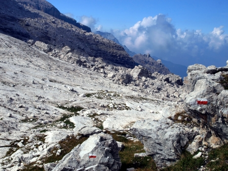 Brenta Dolomites mountain views in the area of   Alfredo Sentiero path and pass Groste, Italy Stock Photo - 22974937
