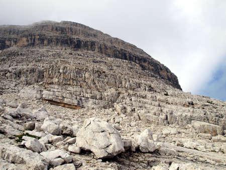 Brenta Dolomites mountain views in the area of   Alfredo Sentiero path and pass Groste, Italy Stock Photo - 22974939