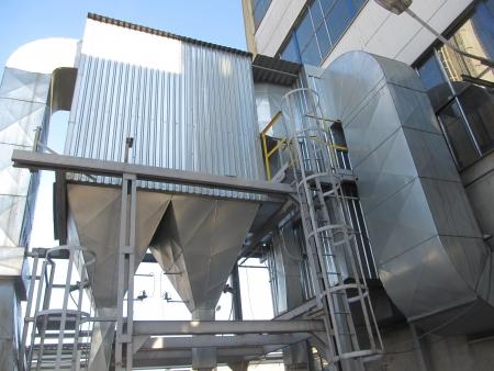 インストールのための石炭ボイラー電気集じん装置からの排ガスの熱絶縁