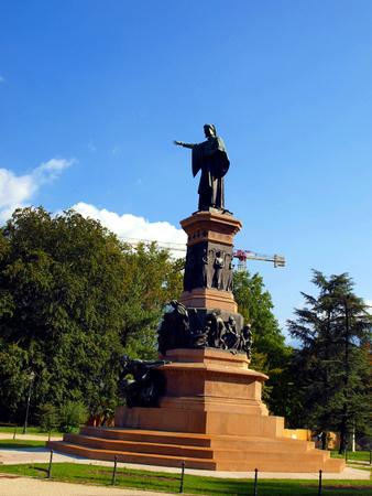 dante alighieri: Monument to Dante Alighieri in the center of the city of Trento in Italy