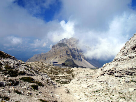 passe:  ski lifts in the area of Passe Groste, Groste peak in the Dolomites, Brenta in Italy