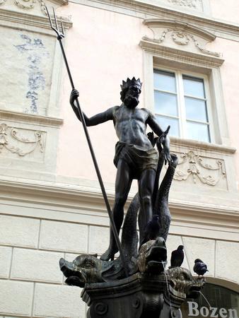 The Fountain of Neptune in Piazza delle Erbe  Bolzano-Italy , built in 1777  photo