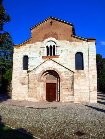laurence: Church of St  Laurence in Trento, old Catholic church of the twelfth century churches Stock Photo