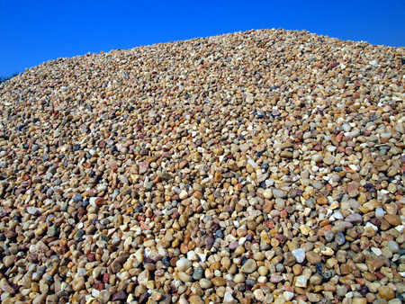Background made from closeup of a pile of stones, gravel