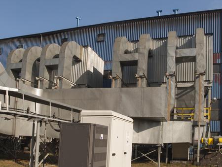 集塵と全体構造と共にボイラー用排煙ガス管