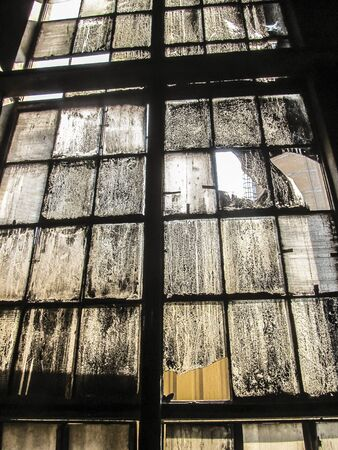 very dirty: old, very dirty window industry as a background