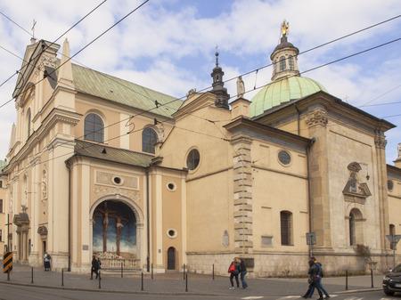 visitation: KRAKOW, POLAND - March 29, 2015: Church of the Visitation of the Blessed Virgin Mary, the Carmelite Church in Krakow, Poland