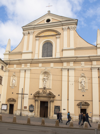 KRAKOW, POLAND - March 29, 2015: Church of the Visitation of the Blessed Virgin Mary, the Carmelite Church in Krakow, Poland