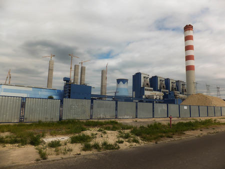 expansion: expansion of coalfired power Opole in Poland Stock Photo
