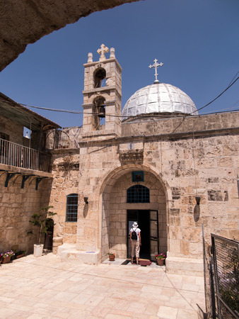 surviving: Orthodox church of St. John the Baptist in old Jerusalem, Israel one of the oldest surviving churches