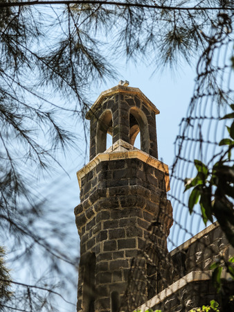primacy: Church of the Primacy of Peter, Tabgha, Israel Stock Photo