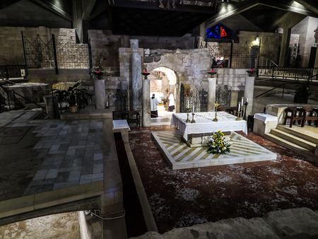 NAZARETH, ISRAEL July 8, 2015; inside the Basilica of the Annunciation. Nazareth, july 8, 2015