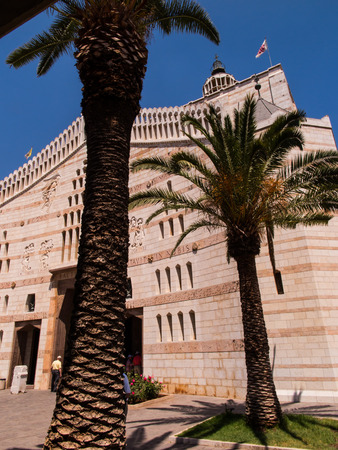 annunciation: The main facade of Basilica of the Annunciation in Nazareth, Israel