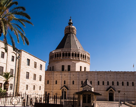 annunciation: The Church of the Annunciation in Nazareth, Israel Editorial