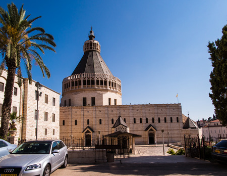 nazareth: The Church of the Annunciation in Nazareth, Israel Editorial