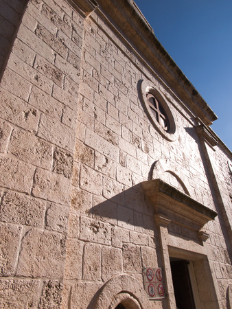 the prophets: Muhraqa monastery on Mount Carmel in Israel in the place of the prophet Elijah fight with the prophets Boal
