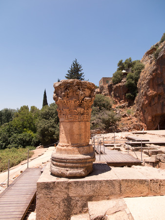 sanctity: Architectural antiquities in natural reservation of Hermon river (Banyas) - Cult center of the God Pan, north of Israel