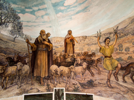Angel of the Lord visited the shepherds and informed them of Jesus' birth, Bethlehem, Church at the Shepherds' Fields, Israel