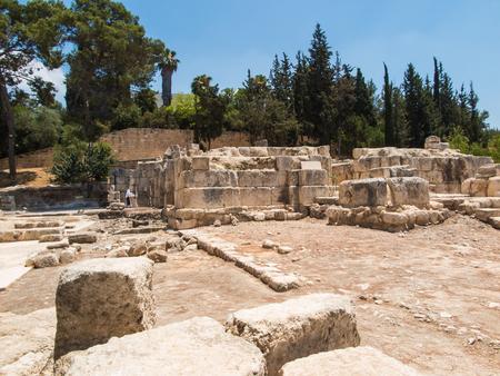 エマオ村の古い遺跡。復活後のエマオへの道の福音によるとイエス ・ キリストは彼の弟子に登場し、パンと共有しています。