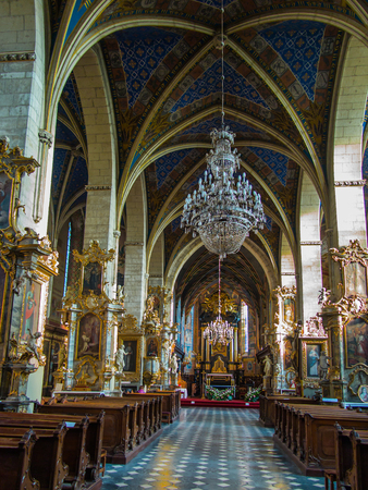 tabernacle: SANDOMIERZ, POLAND 16 October, 2015 .: The interior of the cathedral basilica of the Nativity of the Blessed Virgin Mary in Sandomirzu, Poland Editorial