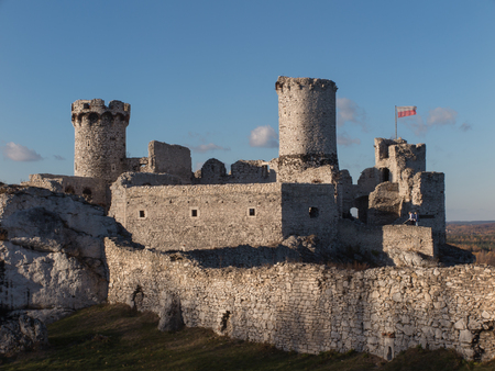 jura: The Ruins of Ogrodzieniec castle - Poland Stock Photo