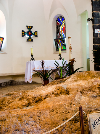 primacy: TABGHA, ISRAEL, July 9, 2015: Church of the Primacy of Peter, Tabgha, Israel