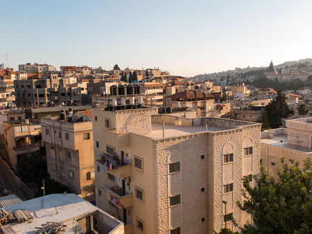 ancient near east: Nazareth, Israel - 10 July, 2015 - City of Nazareth panoramic view, Israel Editorial
