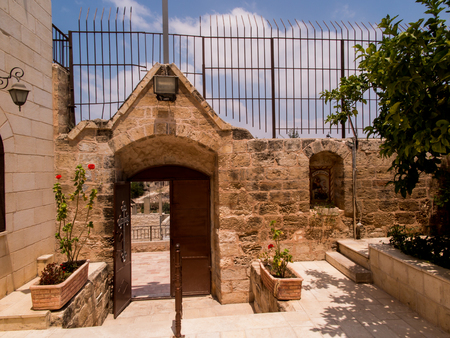described: Very old Christian church at Burqin Arab territories in Palestine. Traditional place described in Bibii healing 10 lepers