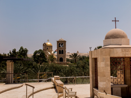 religious building: Qasr el Yahud near Jericho, according to tradition it is the place where the Israelites crossed the Jordan River where Jesus was baptized. Israels border with Jordan