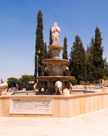 bethlehem: Fountain on the shepherds in Bethlehem, Israel