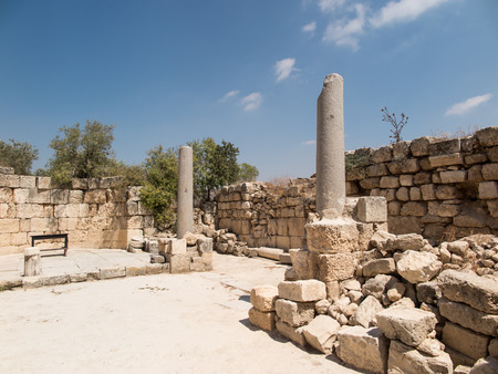 Sebastian, ancient Israel, ruins and excavations in the Palestinian territories. Smaria