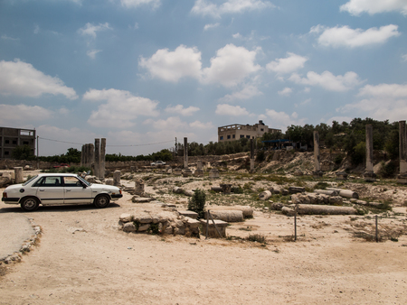excavations: Sebastia, ancient Israel, ruins and excavations in the Palestinian territories. Smaria