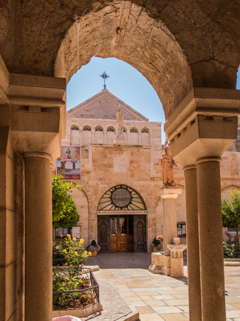 The city of Bethlehem. The Church of the Nativity of Jesus Christ. Hieronymus. 新聞圖片