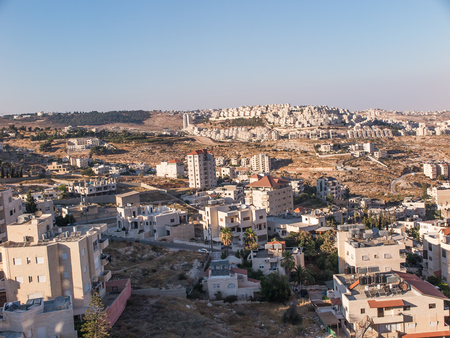 annexed: View of Har Homa (Homat Shmuel) from Bethlehem 2015, Israel