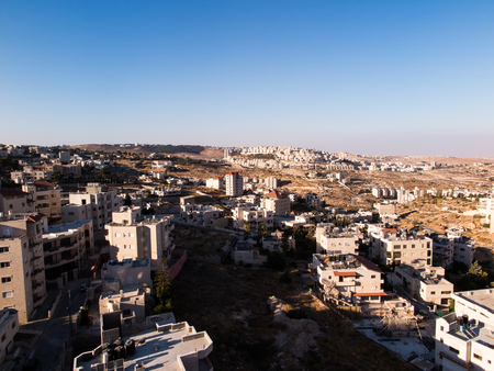 annexed: View of Har Homa Homat Shmuel from Bethlehem, Israel Stock Photo