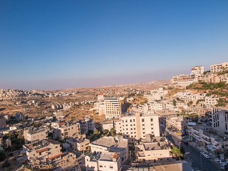 View of Har Homa (Homat Shmuel) from Bethlehem 2015, Israel