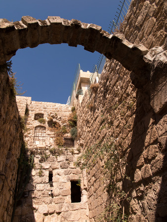 holy land: Fragment of old buildings in Bethany Bible known from the village where they lived Lazarus, Mary and Martha Friends of Jesus, Holy Land Stock Photo
