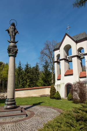 god figure: Figure - Mother of God in sanctuary in Lesniow, Poland, Silesia.