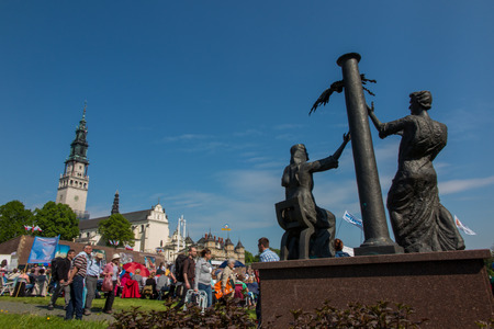 czestochowa: CZESTOCHOWA, POLAND - May 21, 2016: Vigil Catholic Charismatic Renewal meeting Czestochowa Poland, in front of Jasna Gora, Anniversary, May 21, 2016,