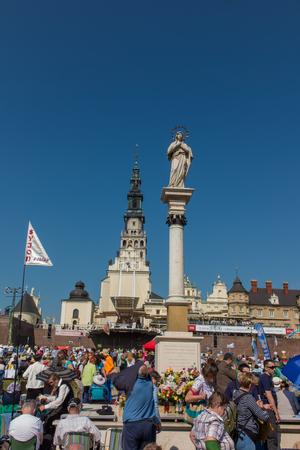 renewal: CZESTOCHOWA, POLAND - May 21, 2016: Vigil Catholic Charismatic Renewal meeting Czestochowa Poland, in front of Jasna Gora, Anniversary, May 21, 2016,