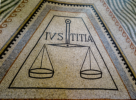 catholic chapel: Mount of Beatitudes. Israel. July 9, 2015: Mosaic in the Catholic chapel on Mount of Beatitudes near Tabgha at the Sea of Galilee, Israel