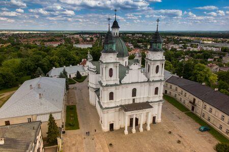 Chelm は東のポーランドの都市の聖母聖母の大聖堂の鐘塔からの眺め 写真素材 - 60871723